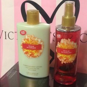 Victoria's Secret wild scarlet Set lotion & mist
